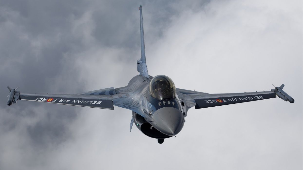 clouds aircraft military F-16 Fighting Falcon aviation fighter jets wallpaper