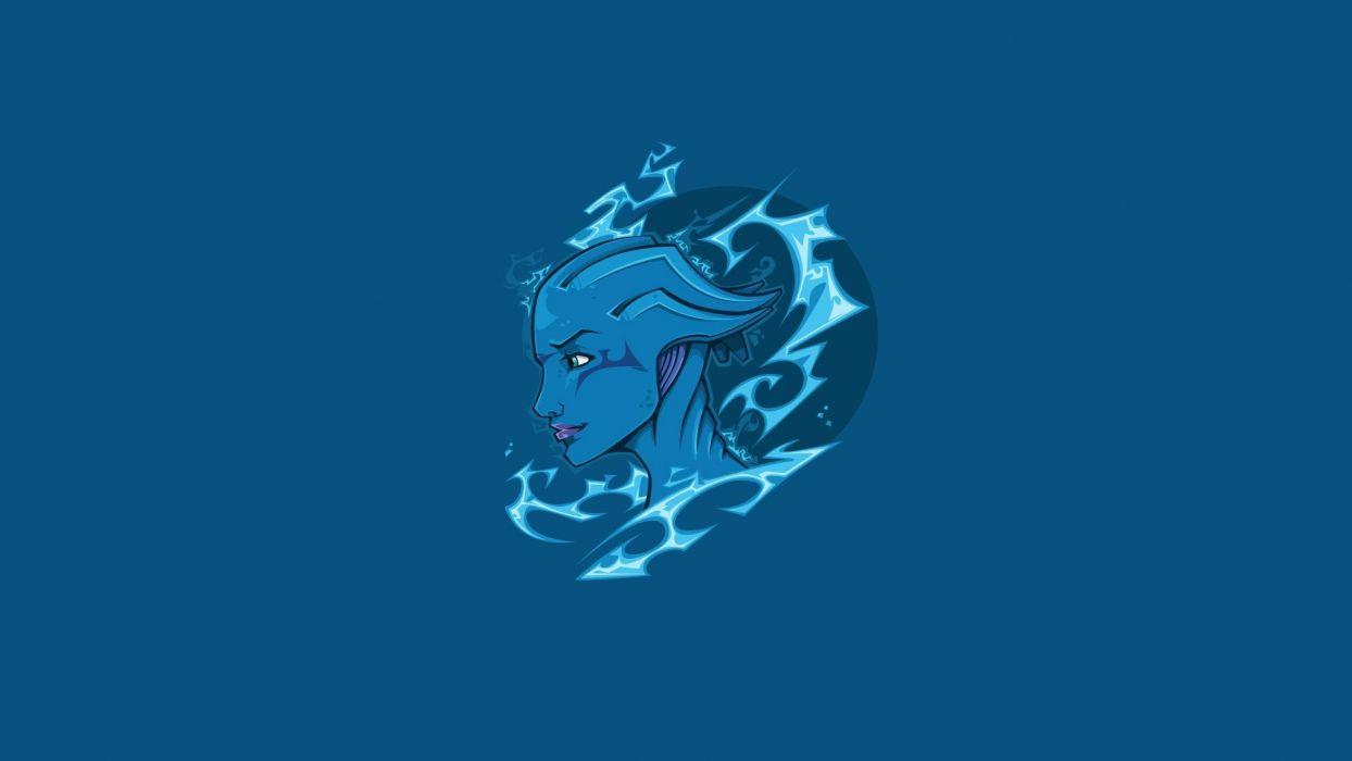 video games Mass Effect Asari biotic Liara TSoni wallpaper
