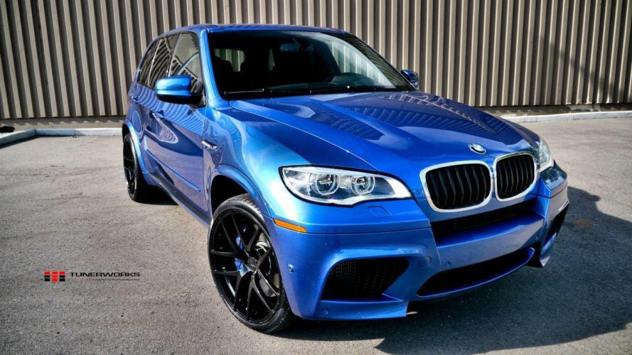 blue cars BMW X5 wallpaper