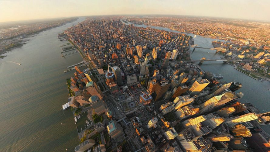 cityscapes architecture USA New York City towns skyscrapers cities wallpaper