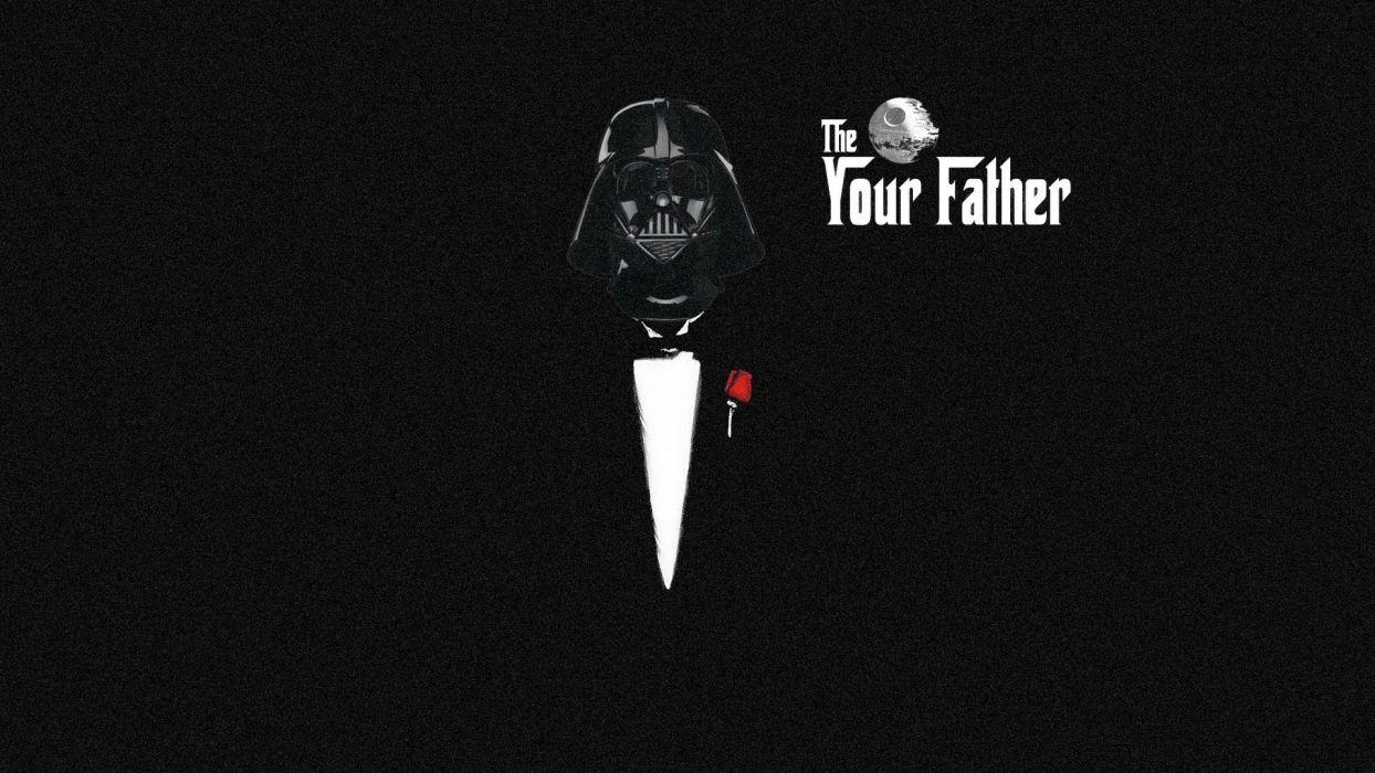 Star Wars Darth Vader Parody The Godfather Artwork Wallpaper