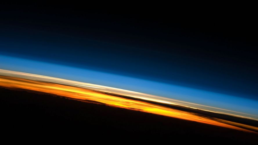 sunset sunrise outer space Earth atmosphere space station wallpaper