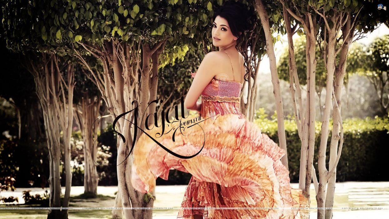 Bollywood Kajal Agarwal indian girls Bollywood actress Girl Outdoor wallpaper