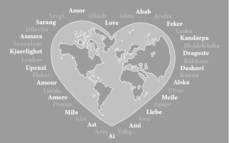 hearts world map wallpaper