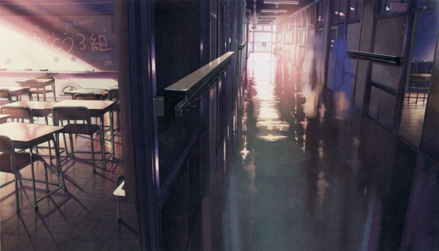 school memories Makoto Shinkai 5 Centimeters Per Second anime wallpaper