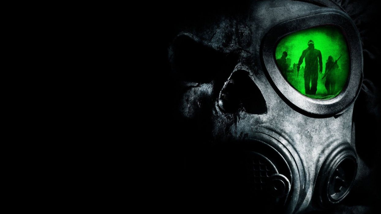 scary gas masks wallpaper