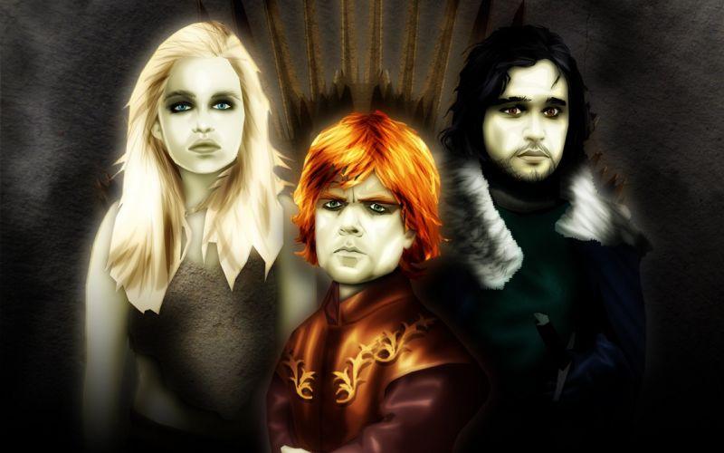 Game of Thrones Tyrion Lannister Jon Snow Daenerys Targaryen wallpaper