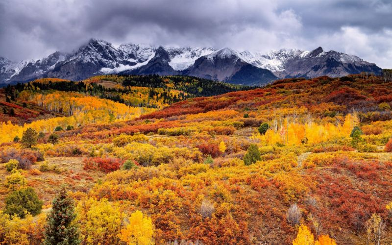mountains clouds landscapes nature autumn skyscapes wallpaper