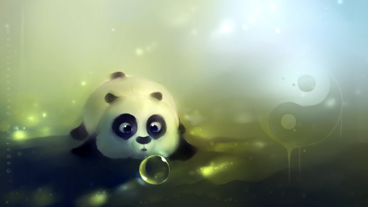 bubbles panda bears artwork Apofiss Kung Fu Panda wallpaper