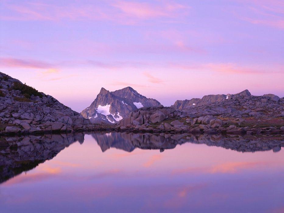 sunset mountains wallpaper