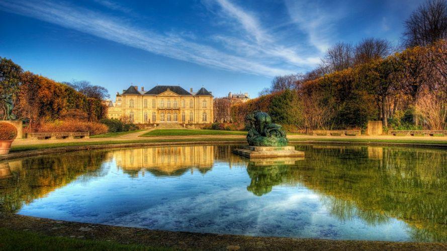 Paris landscapes ponds musAIA wallpaper