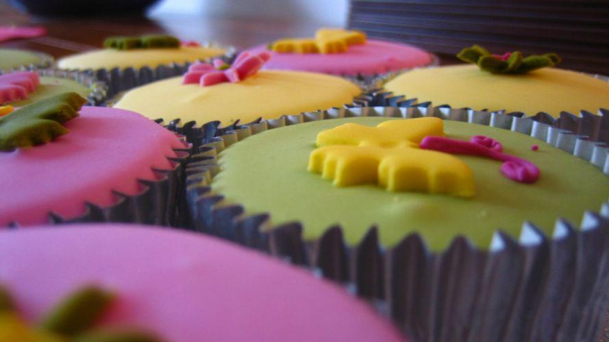 close-up food cupcakes icing wallpaper