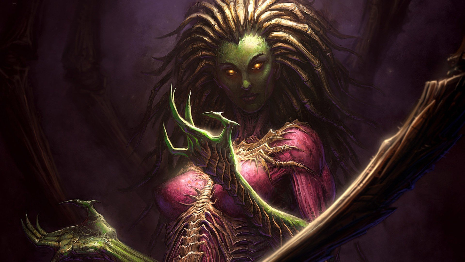 Women Video Games Starcraft Swarm Zerg Fantasy Art Artwork