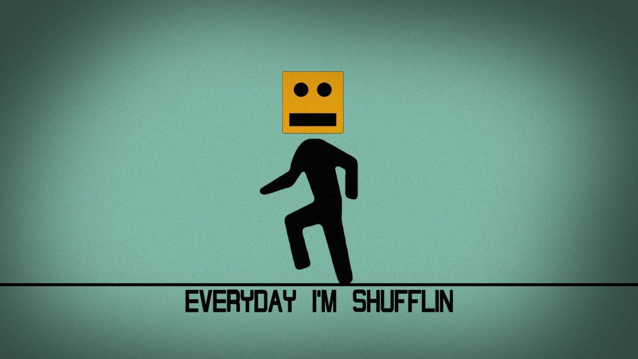blue music red robots funny bot dancing LMFAO Shuffle! Everyboty wallpaper