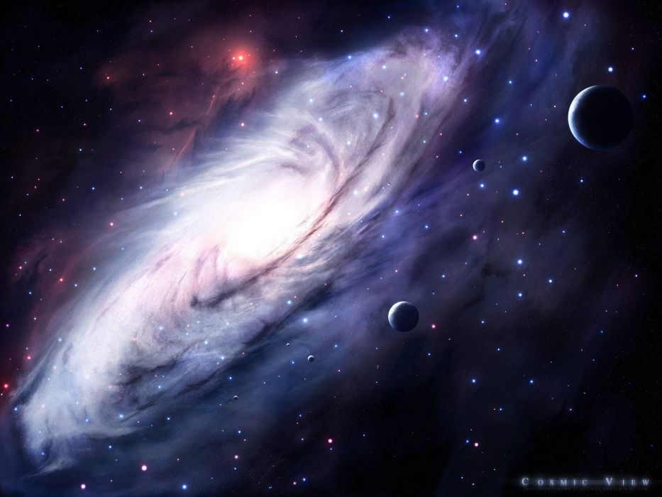 outer space stars galaxies planets wallpaper