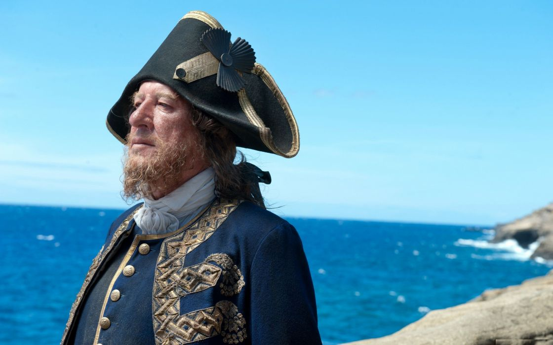 Pirates of the Caribbean Geoffrey Rush Pirates of the Caribbean On Stranger Tides Captain Hector Barbossa wallpaper