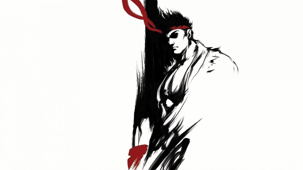 video games Street Fighter men Ryu fantasy art wallpaper