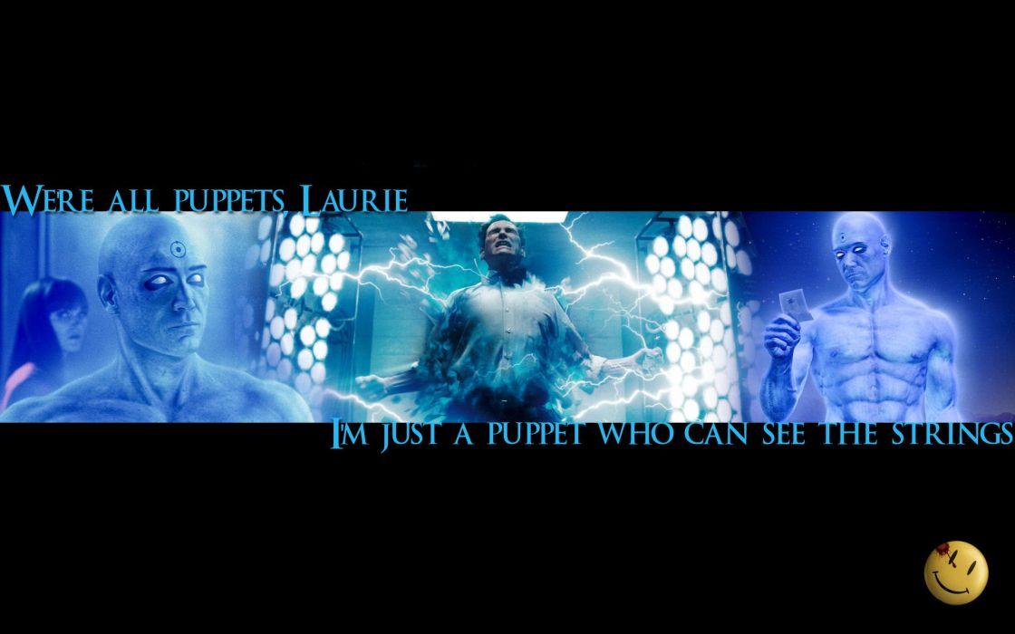 Watchmen quotes Silk Spectre puppet Jon Osterman Dr_ Manhattan wallpaper