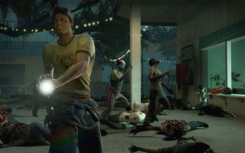 zombies clowns Left 4 Dead parks wallpaper
