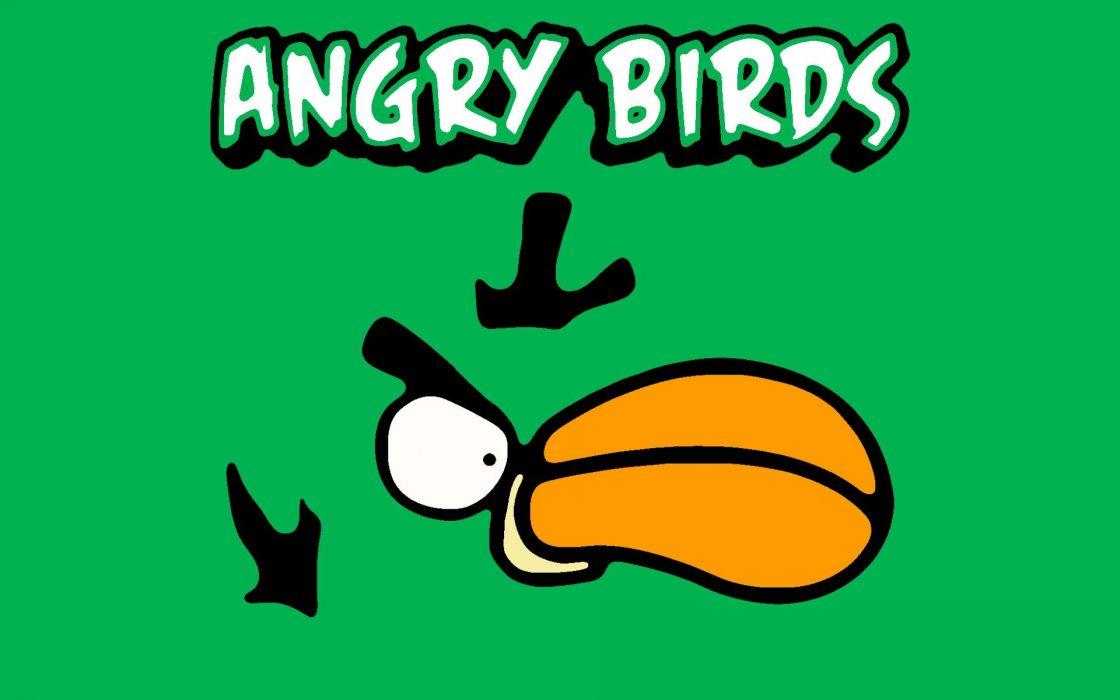 video games Angry Birds Green Bird wallpaper