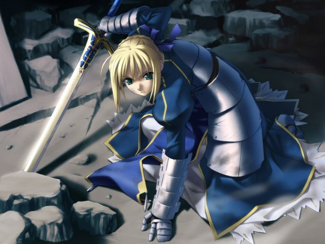 Fate/Stay Night anime Saber Fate series wallpaper