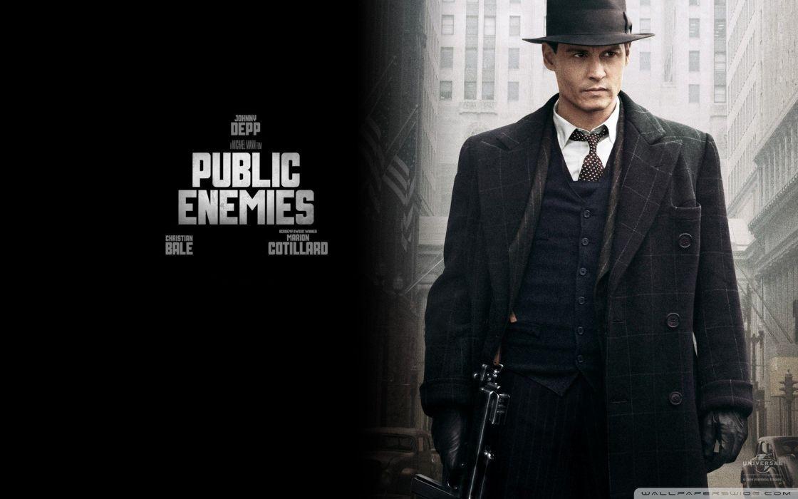 Johnny Depp Public Enemies gangster wallpaper