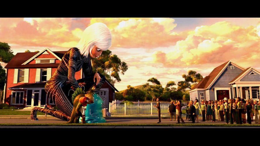 MONSTERS-VS-ALIENS cartoon animation sci-fi monsters aliens monster alien film movie (4) wallpaper