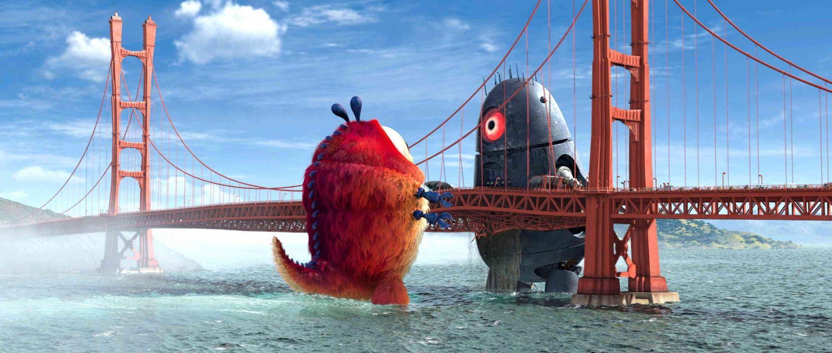 MONSTERS-VS-ALIENS cartoon animation sci-fi monsters aliens monster alien film movie (15) wallpaper