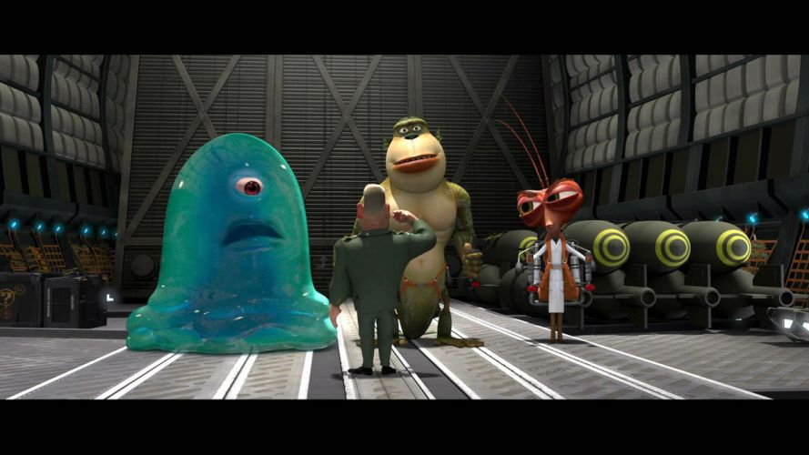 MONSTERS-VS-ALIENS cartoon animation sci-fi monsters aliens monster alien film movie (33) wallpaper