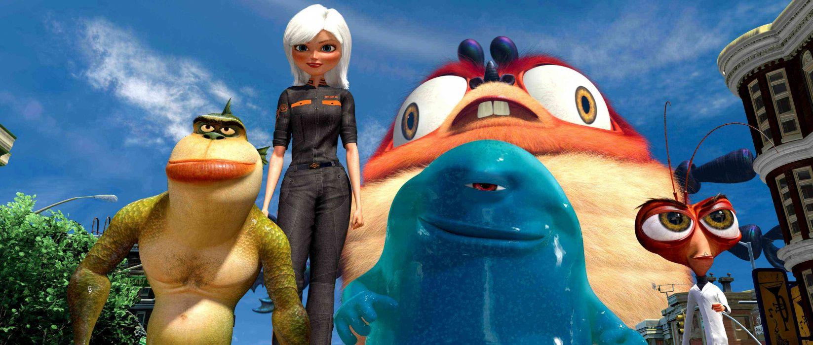 MONSTERS-VS-ALIENS cartoon animation sci-fi monsters aliens monster alien film movie (24) wallpaper