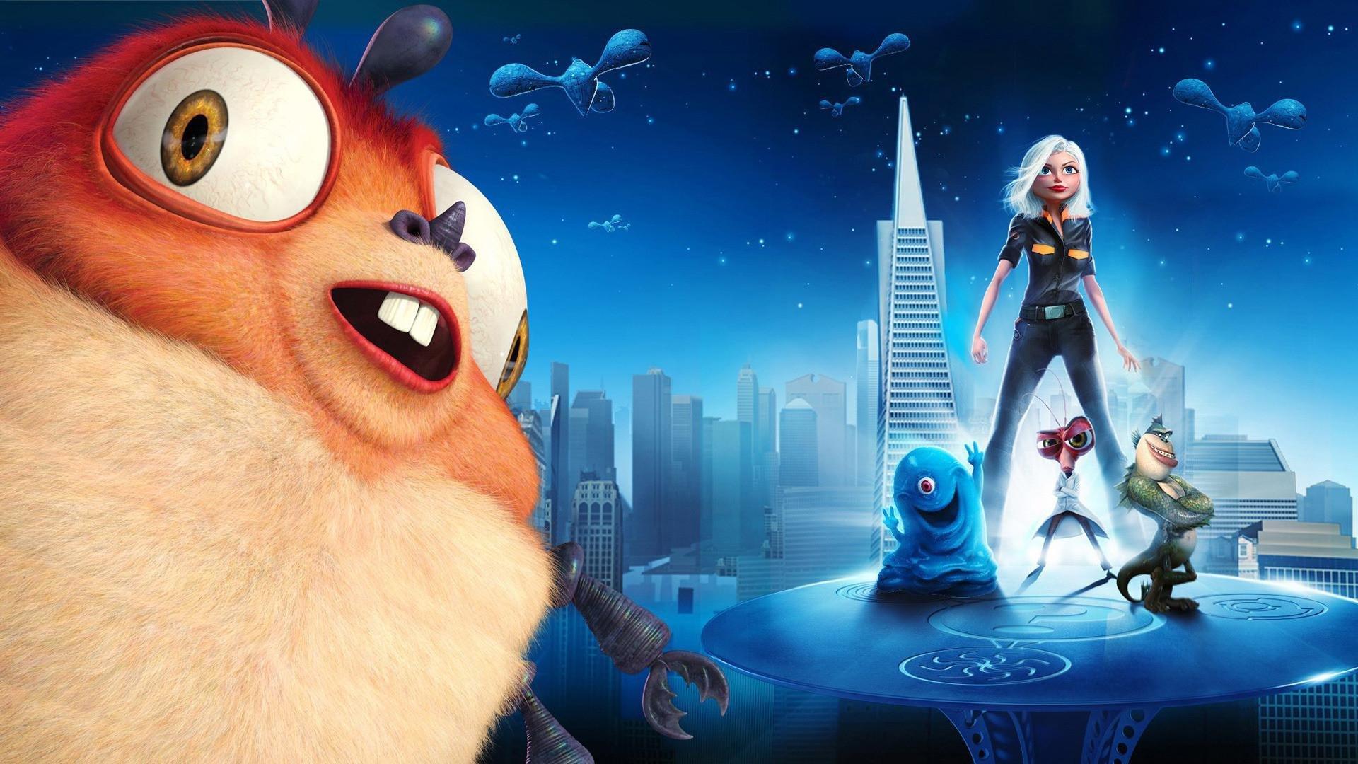 MONSTERS-VS-ALIENS Cartoon Animation Sci-fi Monsters