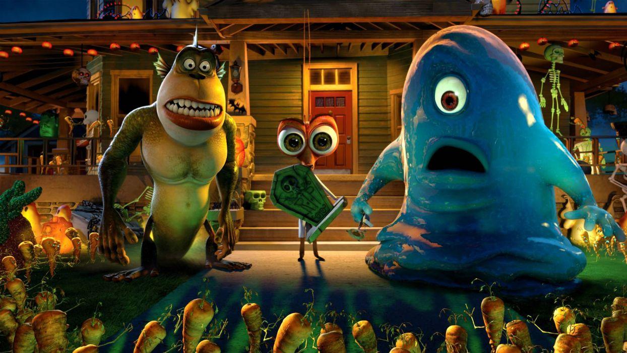 MONSTERS-VS-ALIENS cartoon animation sci-fi monsters aliens monster alien film movie (36) wallpaper