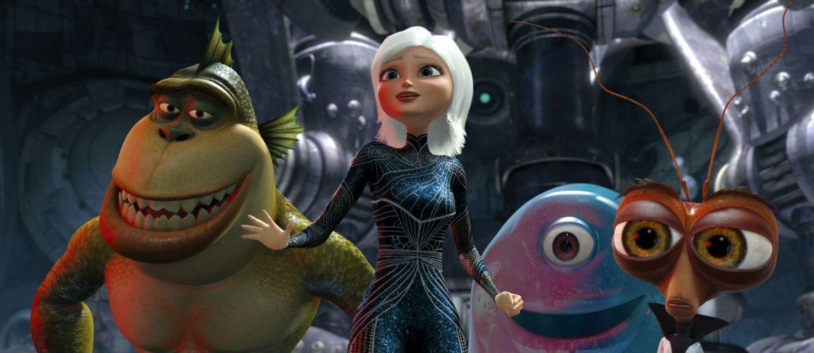 MONSTERS-VS-ALIENS cartoon animation sci-fi monsters aliens monster alien film movie (39) wallpaper