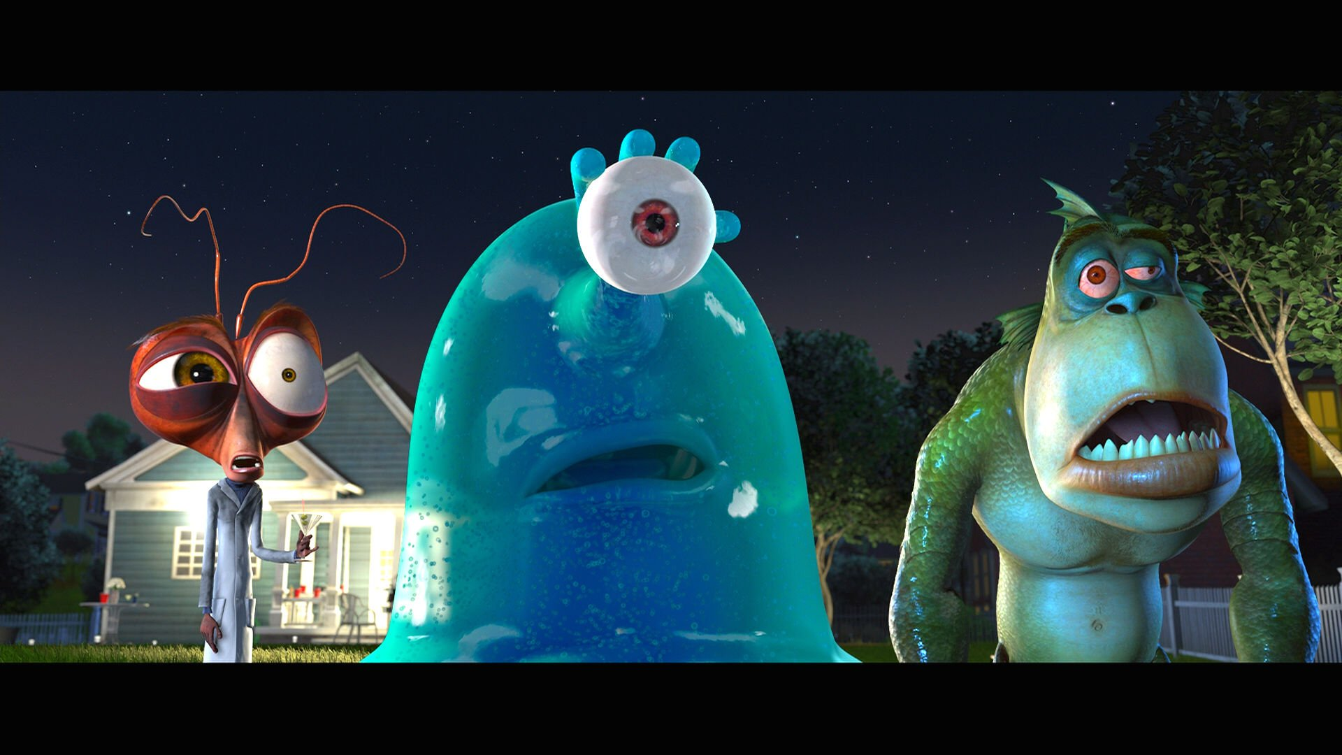D Movies images Monsters vs Aliens D wallpaper and background