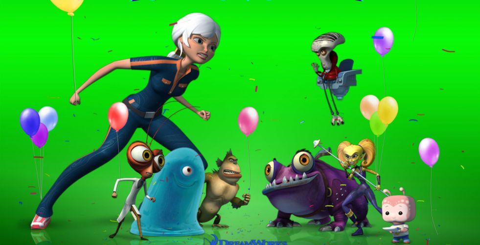 MONSTERS-VS-ALIENS cartoon animation sci-fi monsters aliens monster alien film movie (49) wallpaper