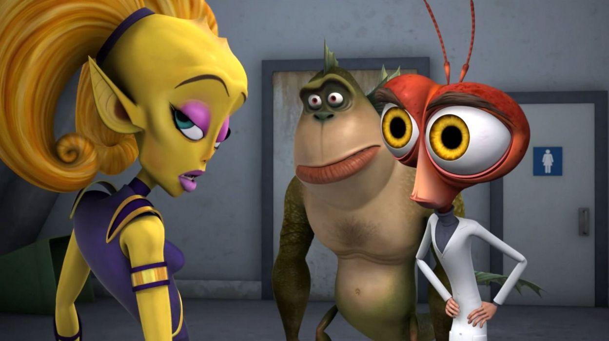 MONSTERS-VS-ALIENS cartoon animation sci-fi monsters aliens monster alien film movie (65) wallpaper