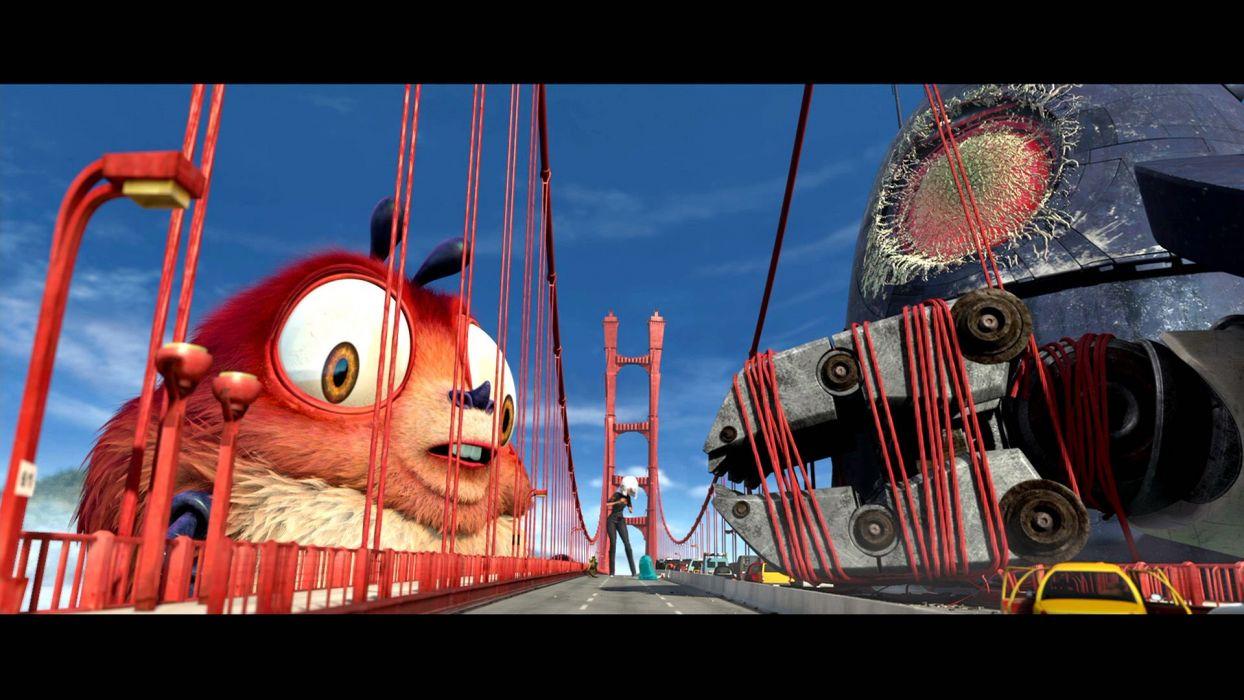 MONSTERS-VS-ALIENS cartoon animation sci-fi monsters aliens monster alien film movie (71) wallpaper