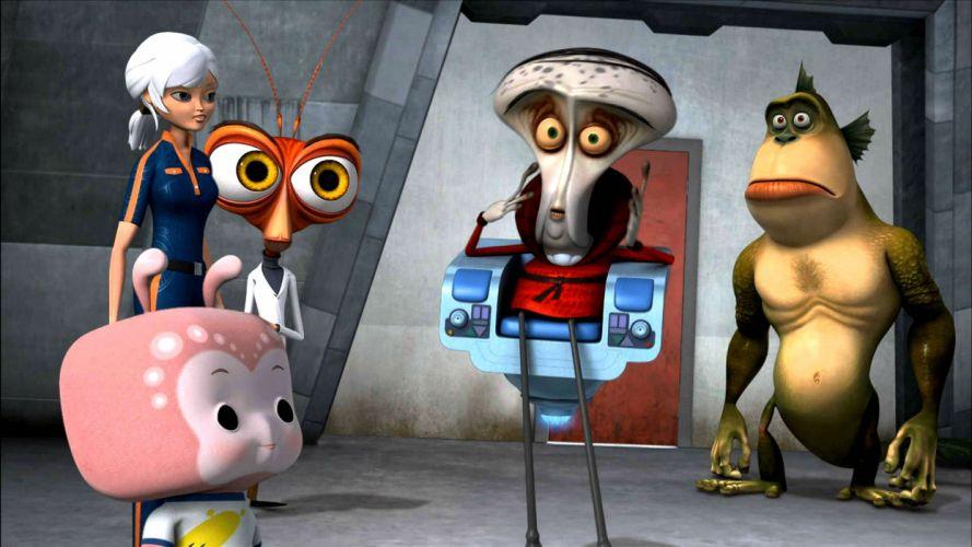 MONSTERS-VS-ALIENS cartoon animation sci-fi monsters aliens monster alien film movie (83) wallpaper