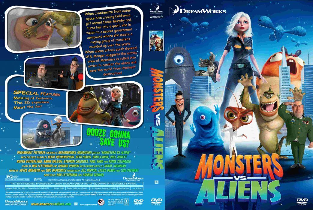 Monsters Vs Aliens Cartoon Animation Sci Fi Monsters Aliens Monster Alien Film Movie 79 Wallpaper 3240x2175 346462 Wallpaperup