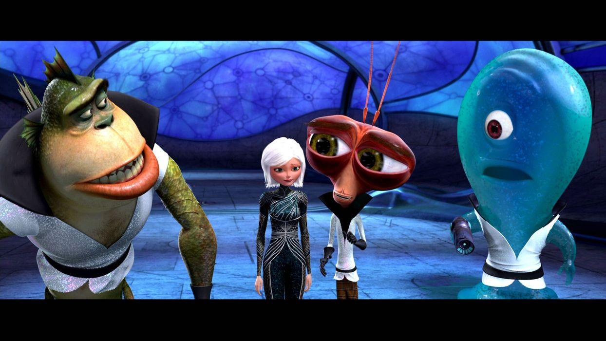 MONSTERS-VS-ALIENS cartoon animation sci-fi monsters aliens monster alien film movie (75) wallpaper