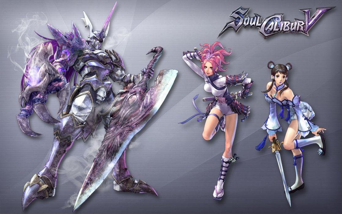 SOUL CALIBUR fantasy warrior game anime (41) wallpaper