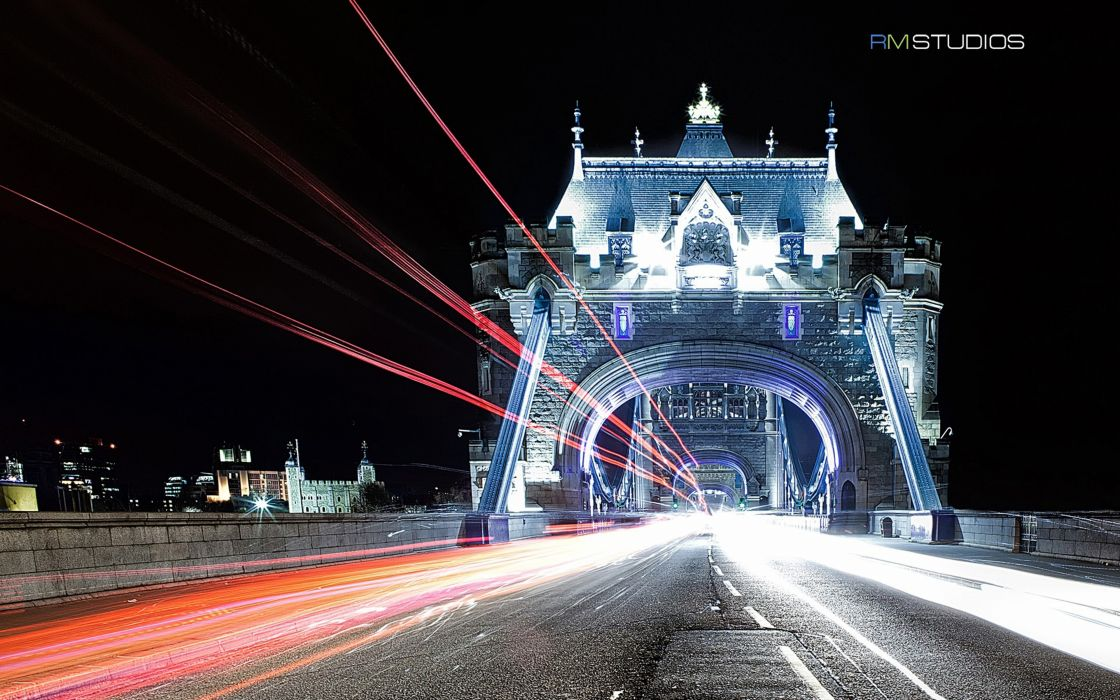 london tower bridge night city cityscape 4000x2500 wallpaper