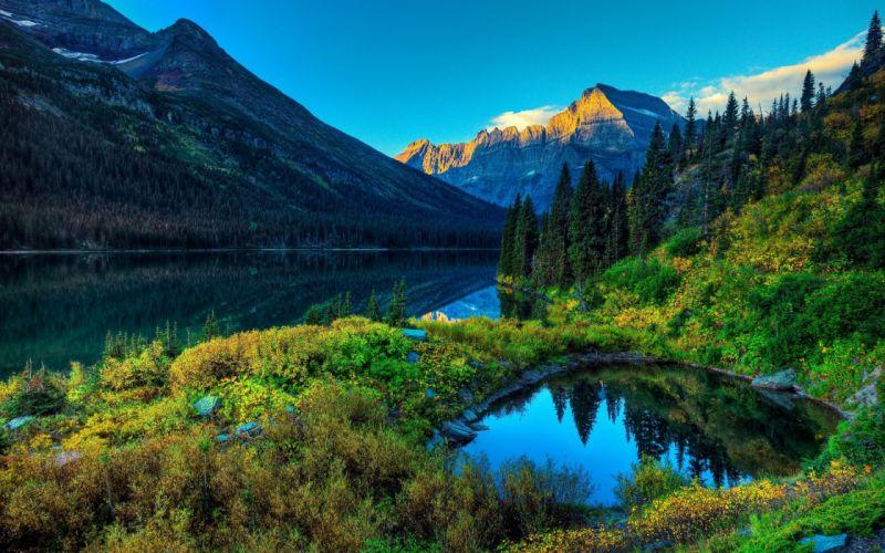 lake mountain scenery landscape 4000x2500 wallpaper