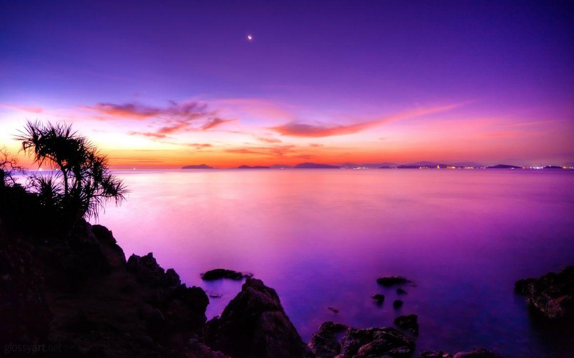 sunset moonrise-2560x1600 4000x2500 wallpaper