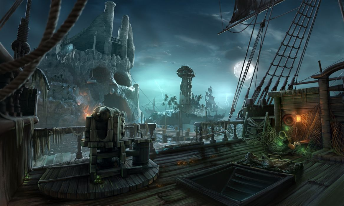 NIGHTMARES-FROM-THE-DEEP fantasy adventure mmo online dark horror game nightmares deep pirate (3) wallpaper