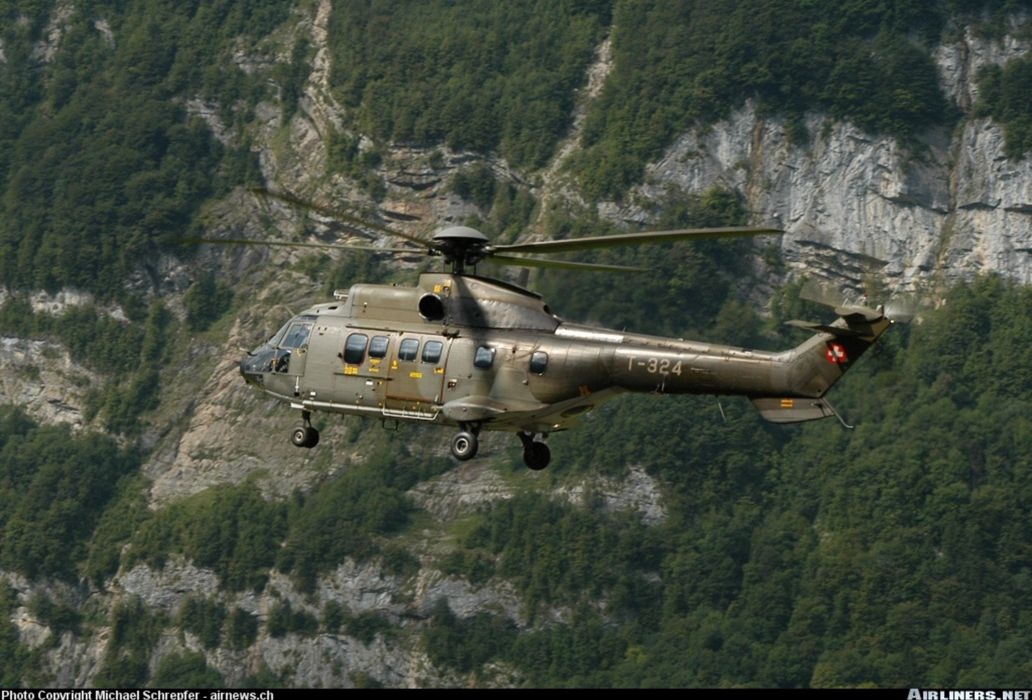 Switzerland air force helicopter aircraft Military Cargo Transport  wallpaper