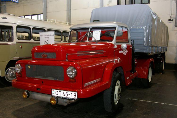 Hungary Budapest truck retro red wallpaper