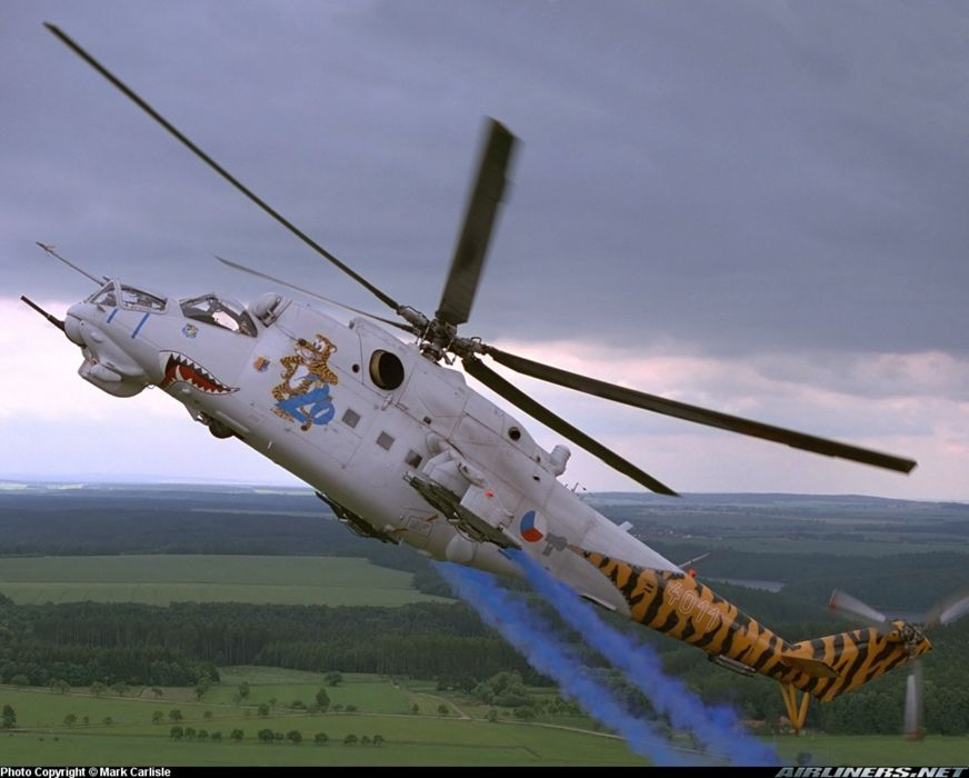 helicopter aircraft attack mil-mi military army Czech-republic wallpaper
