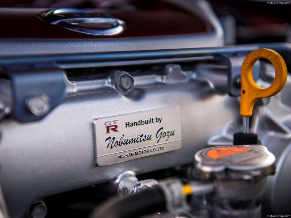 Nissan GT-R 2015 supercar car godzilar engine plaque 4000x3000 wallpaper