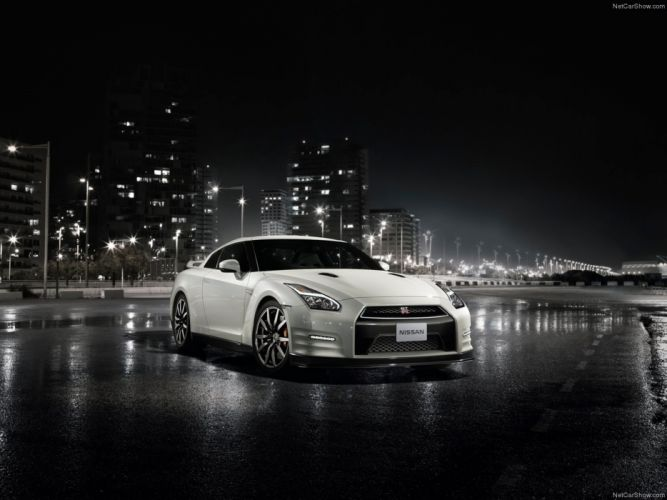 Nissan GT-R 2015 supercar car godzilar night city wallpaper 03 4000x3000 wallpaper